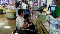 Air Force Veteran Jason and Canine Companions Service Dog Napal