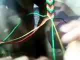 Como Hacer Una Pulsera o Manilla En Flecha En Colores Rasta - How to make a bracelet rasta Arrow.wmv