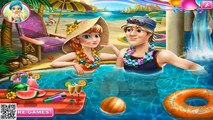 Disney Frozen Game - Frozen Anna Pool Celebration Baby Videos Games For Kids