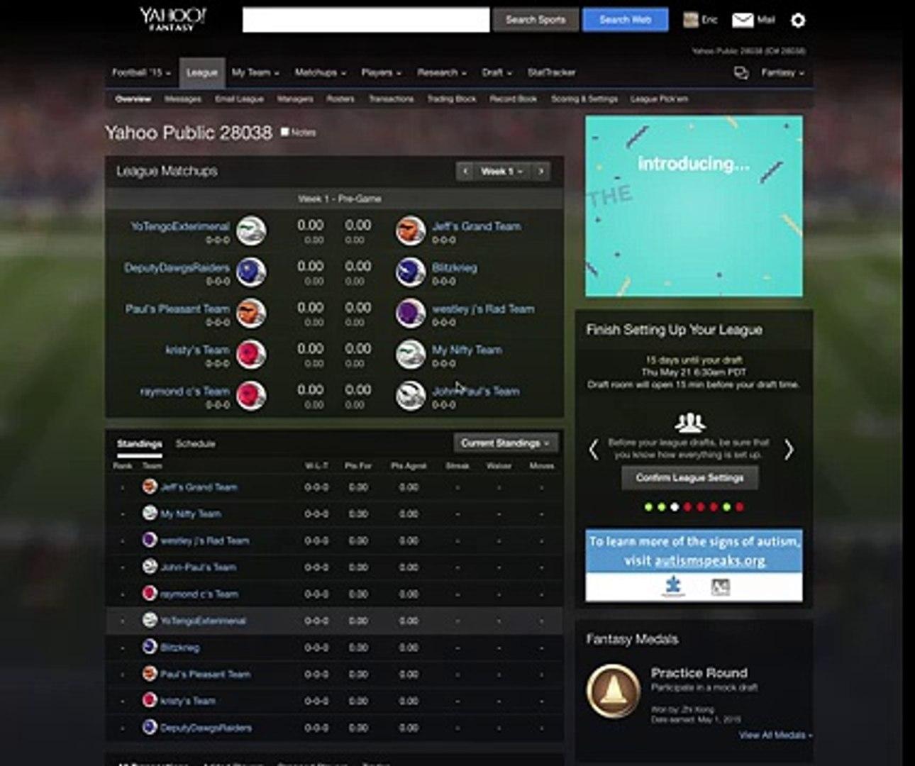 Howto Delete Yahoo Fantasy Football Team Dailymotion Video