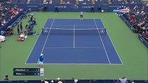 Kei Nishikori VS Benoit Paire - Paire racket Fail !!! - US OPEN 2015