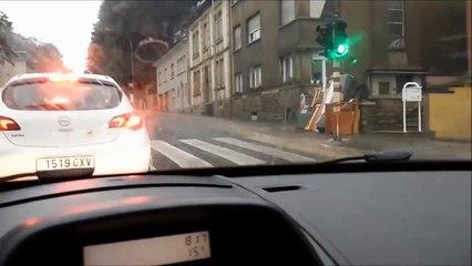 Grosses averses sur la Côte d'Eich à Luxembourg [HD]