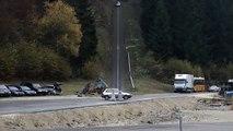 Voilà ce à quoi ressemble un crash de 200km à l'heure