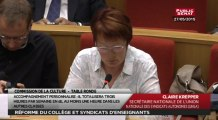 Table ronde sur la réforme du collège avec les représentants des syndicats d'enseignants - Commission