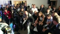 Protester disrupts French Prime Minister's press conference