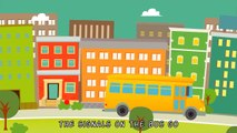 The Wheels On The Bus Go Round and Round - Nursery Rhymes Song with Lyrics - Animated Kids Songs