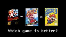 Super Mario Bros. vs Super Mario Bros. 2 vs Super Mario Bros. 3