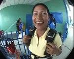 Saltos en Paracaidas Gaby Briceño 1er y 2do Tandem