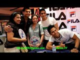 Fila meet and greet with the Philippine Volcanoes Rugby Team Fabio Ide and Tessa Prieto
