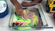 MILK AND SOAP MAGIC EXPERIMENT easy science experiments for kids with Thomas and Friends Train Thom