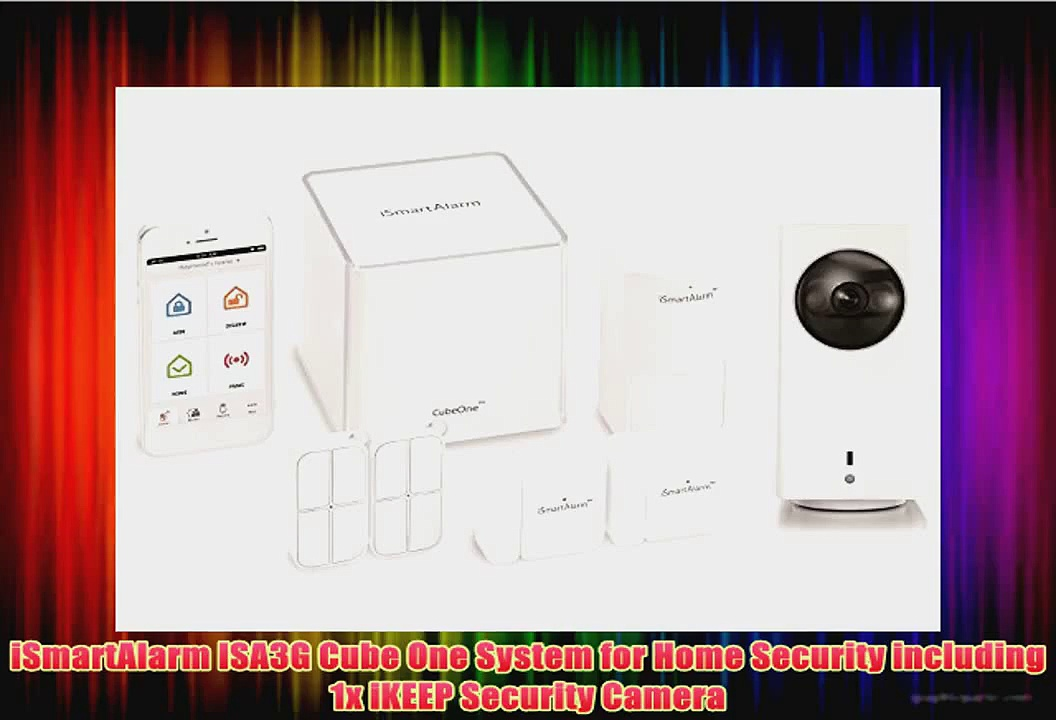 iSmartAlarm ISA3G Cube One System for Home Security including 1x iKEEP Security Camera