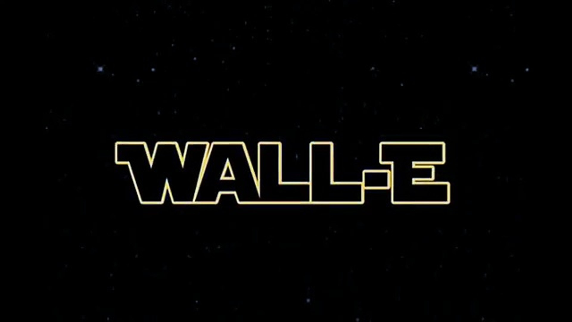 Wall E Star Wars Opening Crawl Video Dailymotion