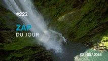 ZAP DU JOUR #222 : Le drone ultime / Partager une vague / Plonger d'une falaise de plus de 20 mètres / Maître Yoda /