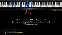 U2 - Song for Someone - LOWER Key (Piano Karaoke / Sing
