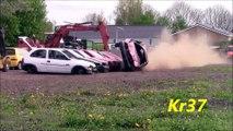 Crash test extreme avec une Volvo 850 : cette voiture est un tank!
