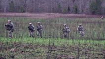 Helicopters Invasion! 101st Airborne Soldiers Disembarking From Black Hawk Helicopters