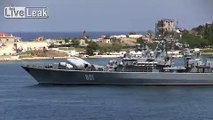 Russian ship missile explodes during launch in sevastopol Harbour
