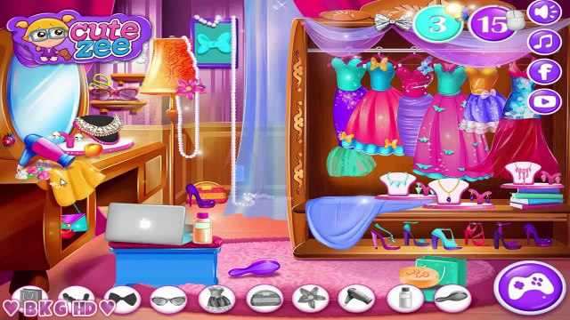 Elsa Secret Wardrobe ♥ Frozen Elsa Makeup Dress Up Video Game for Kids