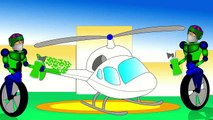 Cartoon Helicopters Teaching Colors - Learning Colours Video for Kids, Toddlers & Babies. Robots