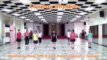 Cowboy Rhythm - line dance (demo & walk through) = 牛仔旋律 - 排舞(含導跳)