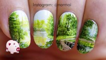 Path to serenity freehand nail art tutorial
