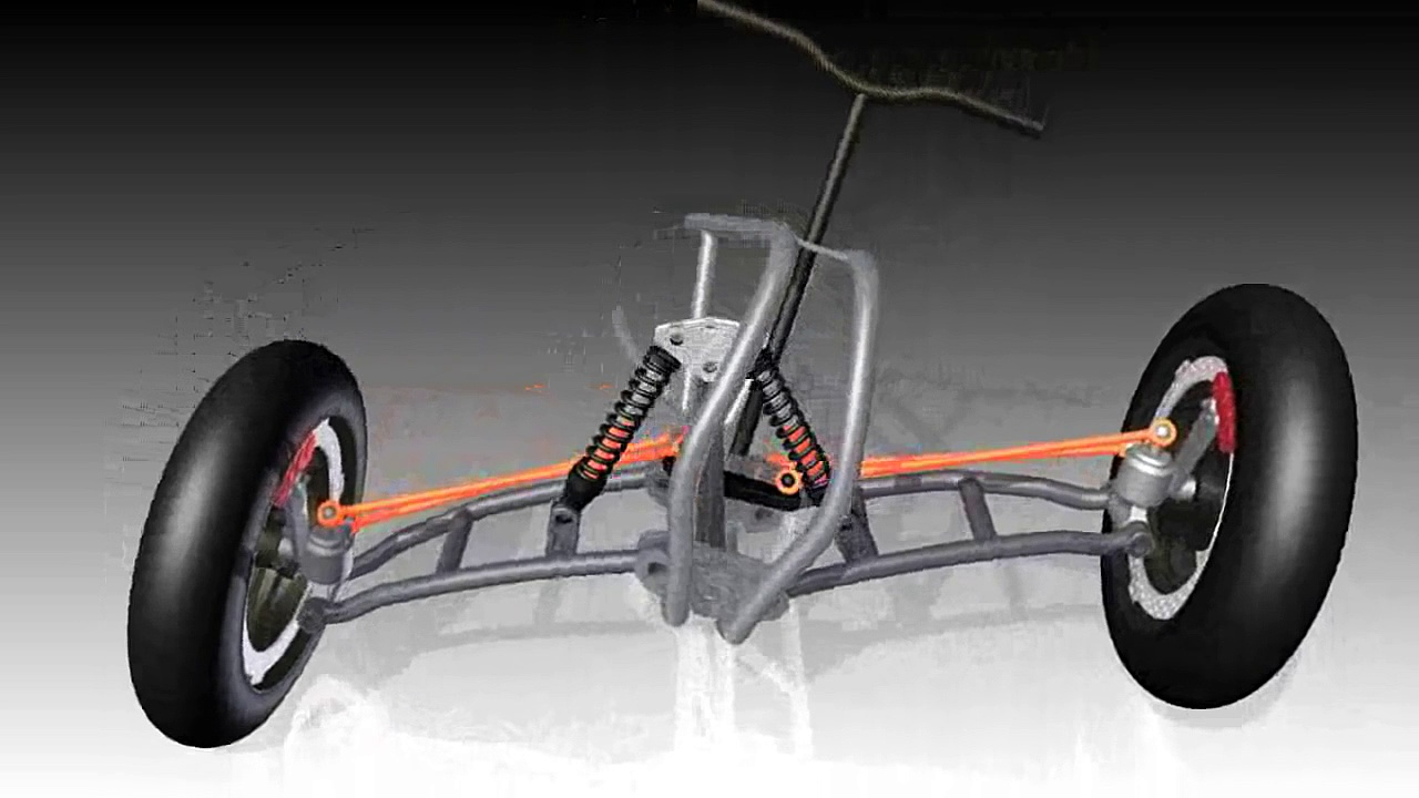 CAN AM tilting steering 3D CAD