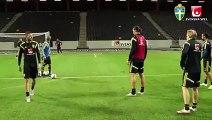 Zlatan Ibrahimovic Insane goal at Sweden training  - football news videos 2015