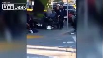 Cop filmed on cellphone trying to tip handicapped black man out of wheelchair