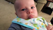 Baby cries when listening sings so cute Synthetic   Best Funny Baby Videos 2015 - Funny Baby Videos