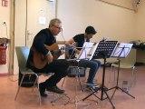 M2U02017 duo guitare classique et electrique, Hotel California, Eagles, fête de la musique à Scy Chazelles le 21 06 2015