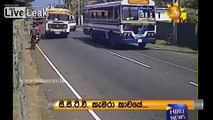 Overloaded bus ends a mans bike ride