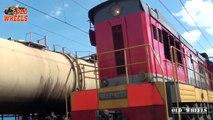 Massive Diesel cargo Locomotive Train Locomotive