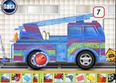 FIRE TRUCK at the car wash  Car wash for kids  Cartoon about CAR WASH  CAR WASH cartoon  2