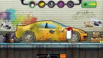 Purple car for kids   Cartoon about wash car   Dessin animé sur la voiture de lavage