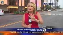 Videobomber Scares KTLA Reporter On Live TV!