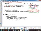 3.3 Solving Equations Using 2 Properties of Equality - 9-3-15