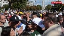 Paris. Manifestation : quelques tensions entre agriculteurs