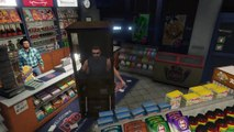 GTA V wtf - Woman inside a wheelchair inside a guy inside a vending machine inside the UFO