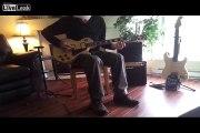 Mediaeinstein Plays The Catch Hell Blues on Slide Guitar