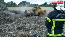 Inzinzac-Lochrist (56). Incendie au centre d'enfouissement de Kermat