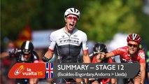 Summary - Stage 12 (Escaldes-Engordany. Andorra / Lleida) - Vuelta a España 2015