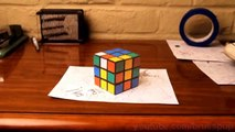 Amazing paper illusion - Rubix Cube, Tape & Shoe Illusion - uVirals!
