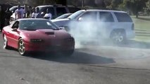 car doing donuts goes bad