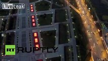 Russia: Drone shows spectacular fountains light up Moscow's Victory Park