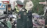 DNR Leader Zakharchenko Drunk During Victory Parade In Donetsk