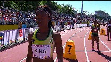 WOMEN's 200m RD 1 HEAT 3 - Track & Field IAAF - pan am games toronto 2015
