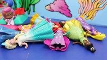 Bubble Guppies & Peppa Pig Mermaid Hospital with The Little Mermaid Ariel Oona Play Doh Fo
