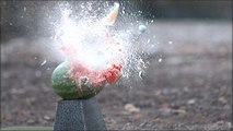 Golf Ninjas - Long Drive Champ Jeff Flagg Destroys Stuff with Golf Balls in Slow Motion