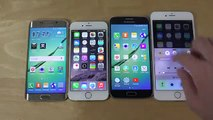 Samsung Galaxy S6 Edge vs. iPhone 6 vs. Samsung Galaxy S6 vs. iPhone 6 Plus - Which Is Faster-