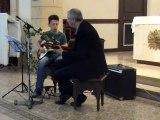 M2U01950 blues, guitare electrique et classique, fête de la musique à Labry le 21 06 2015